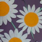 「花は咲く」② 加藤裕美 復興支援ソングからイメージ。大きな花を咲かせます。 (展示は図書館、たいようの杜、福祉の家、連作)