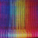 ワークショップ 「虹色の布を織る」 場所 欅舎    「糸と織りのアトリエ」 日時 10月12日(土)・13日(日)    両日とも10時~12時半    各3名様限定 講師 飯島宏子 材料費ともで3000円 申込 電話、メールにて先着順