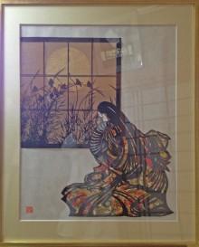 切り絵と水彩画 四季折々の風情や動、植物、人物等を対象に下書き、カッティングし、紙の質や色合いの組み合わせを楽しみながら制作した物を10点程展示します。
